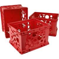 Storex Mini Crate / Red School (3 units/pack)