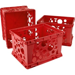 Storex Mini Crate / Red School (3 units/pack)