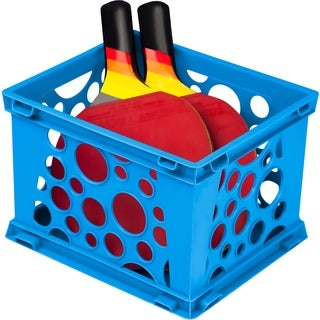 Storex School Blue Plastic Mini Crates (Pack of 3)
