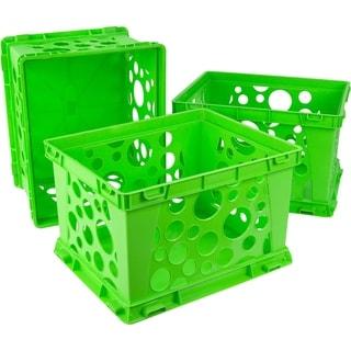 Storex School Green Mini Crate (Pack of 3)