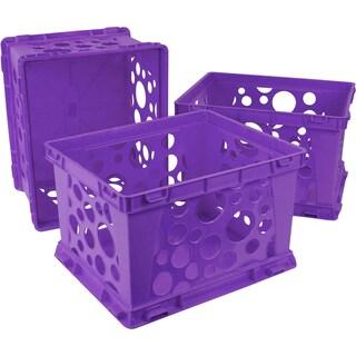 Storex School Purple Plastic Mini Crate (3 units/pack)