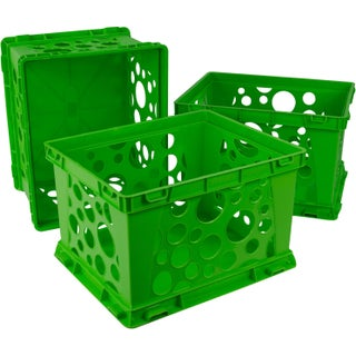 Storex Classroom Green Plastic Large File Crates (3 units/pack)