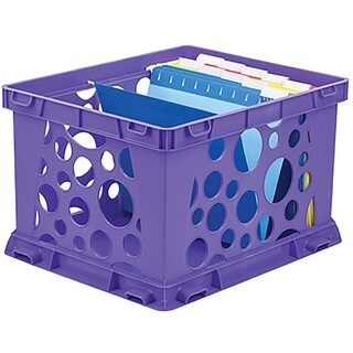 Purple Classroom Large File Crate (Pack of 3)