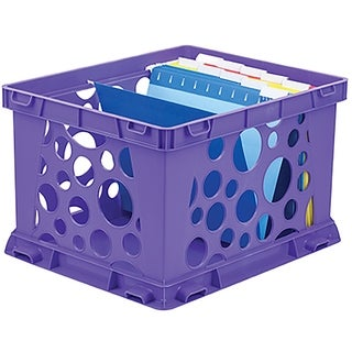Storex Large File Crate / Classroom Purple (3 units/pack)