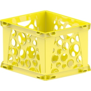 Storex Classroom Yellow Plastic Large File Crates (Pack of 3)