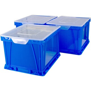 Storex Storage and Filing Cube, School Blue/Clear (3 units/pack)