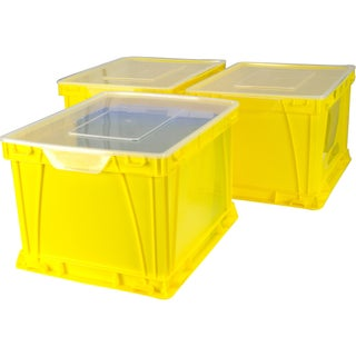 Storex Storage and Filing Cube, School Yellow and Clear (3 units/pack)
