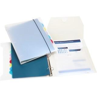 Storex Poly Organizer Binder,1-inch, White (4 units/pack)