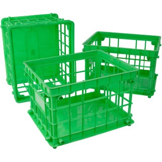 Storex Standard Letter/Legal File Crate,Class Green (3 units/pack)