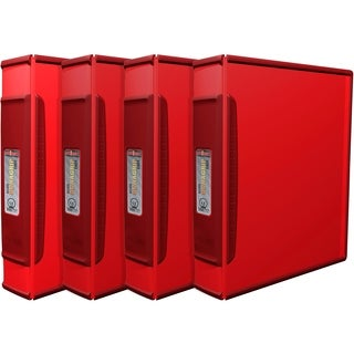 Storex Duragrip Red 1.5-inch Binder (Pack of 4)