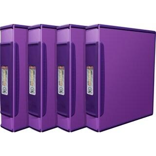 Storex Duragrip Purple 1.5-inch Binder (Pack of 4)