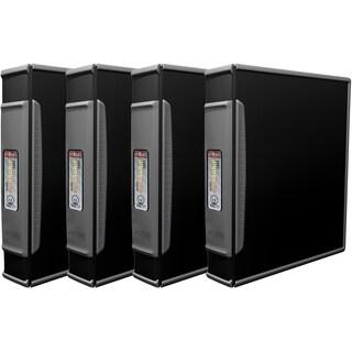 Storex Duragrip Black Plastic 1.5-inch Binder (Pack of 4)