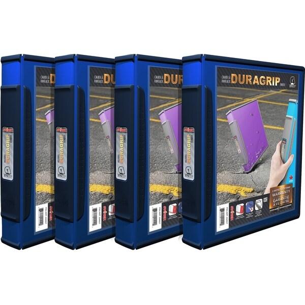 shop storex duragrip view binder 1 inch d ring blue 4 units