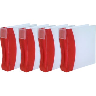 "Storex Duratech Binder /2""-inch Red (4 units/pack)"