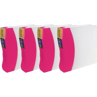 Storex Duratech Pink Polypropylene 2-inch Binder (Pack of 4)