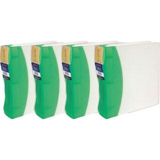 Storex Duratech Green 2-inch Binder 4-pack