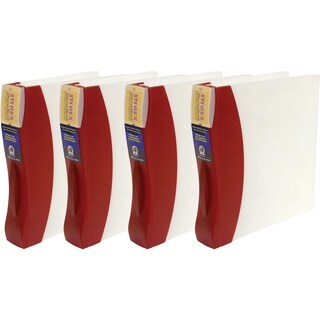 Storex Duratech Red Plastic 1.5-inch Binder (Pack of 4)