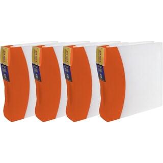 Storex Duratech Orange Plastic 2-inch Binders (Pack of 4)