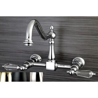 Victorian Crystal Wallmount Kitchen Faucet