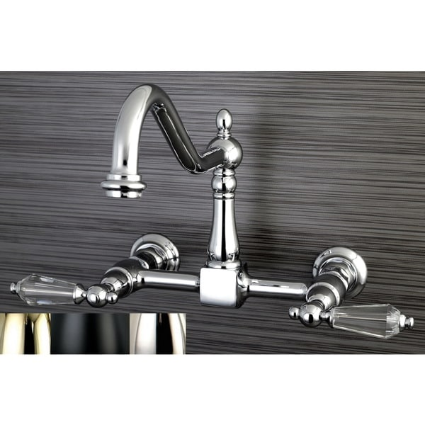 Shop Victorian Crystal Wallmount Kitchen Faucet Free
