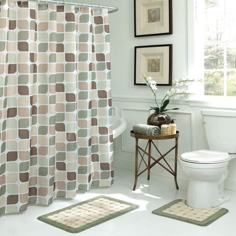 Bath Fusion Zaragoza Geometric 15-Piece Bathroom Shower Set