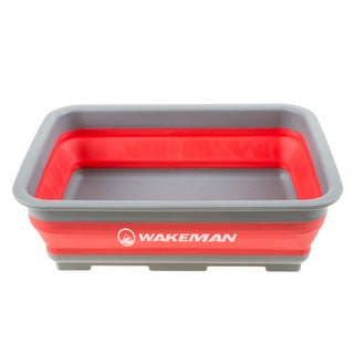 Wakeman 10L Collapsible Portable Camping Wash Basin
