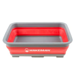 Wakeman 10L Collapsible Portable Camping Wash Basin|https://ak1.ostkcdn.com/images/products/14032949/P20651075.jpg?impolicy=medium