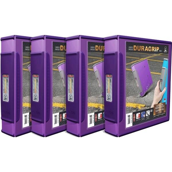 shop storex duragrip view binder 2 inch d ring purple 4 units