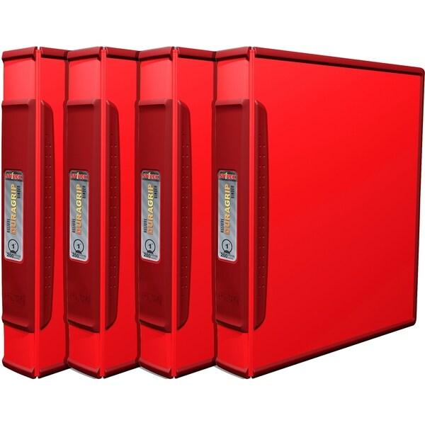shop storex duragrip binder 2 inch red 4 units pack free