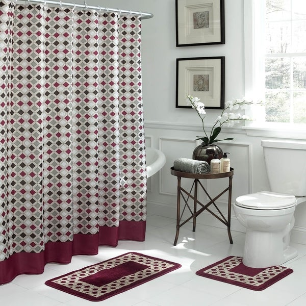 Bath Fusion Christine Geometric 15-Piece Bathroom Shower Set