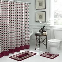 Bath Fusion Christine Geometric 15-Piece Bathroom Shower Set