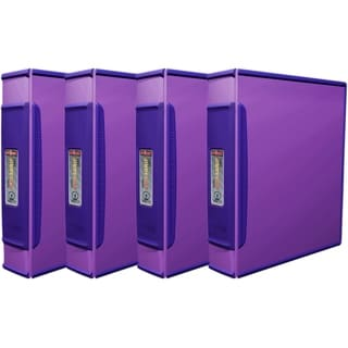 Storex Duragrip Purple 2-inch O-ring Binder 4-pack