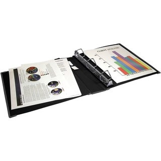Storex Duragrip Assorted Colors 2-inch D-ring View Binder 4-pack