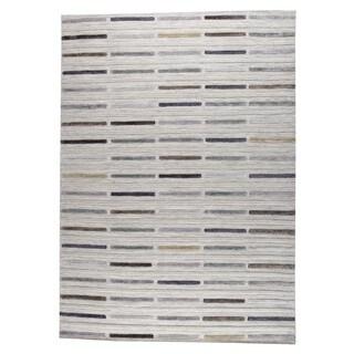 M.A.Trading Hand Woven Khema5 Grey (4'6 x 6'6)