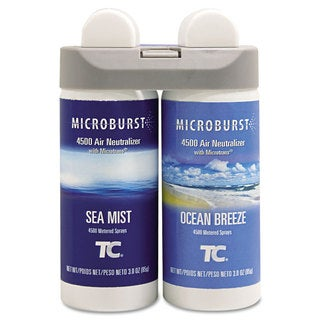 Rubbermaid Commercial Microburst Duet Refills Sea Mist/Ocean Breeze 3oz 4/Carton