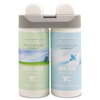 Rubbermaid Commercial Microburst Duet Refills Gentle Breeze/Linen Fresh 3oz 4/Carton