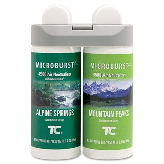 Rubbermaid Commercial Microburst Duet Refills Alpine Springs/Mountain Peaks 3oz 4/Carton