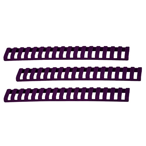 Ergo 18 Slot Ladder Low Pro Rail Covers, 3-Pack Purple