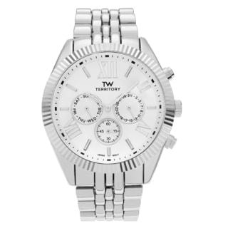 Territory Men's Chronograph Roman Numeral Dial Link Bracelet Watch