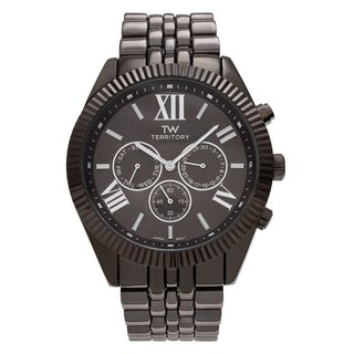 Territory Men's Chronograph Roman Numeral Dial Link Bracelet Watch