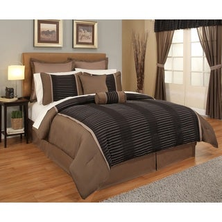 Verno Terra 24-pc Brown Jaquard Bed-In-A-Bag