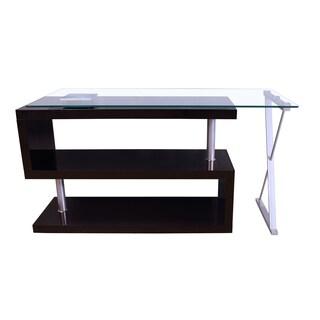 acme furniture buck glasstop swivel desk