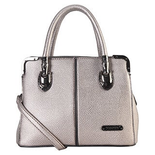 Diophy Women's Faux-leather Dual-compartment Mini Tote Bag