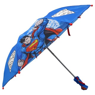 DC Comics Superman Blue 3D Handle Compact Umbrella