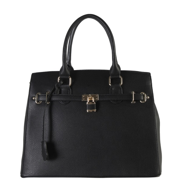 Diophy Women's Faux Leather Structured Satchel Handbag with ...