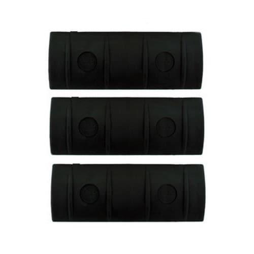 Ergo Full Rail Covers, 2-Pack, Black Medium, 10 Slot