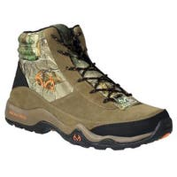 Realtree Outfitters Men's Bison Brown Fabric and Suede Camouflage Hiking Boots