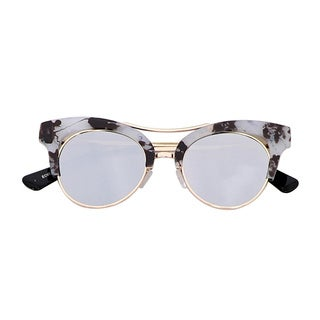 LA77 Black/Grey Metal/Plastic Funky Cat Eye Sunglasses