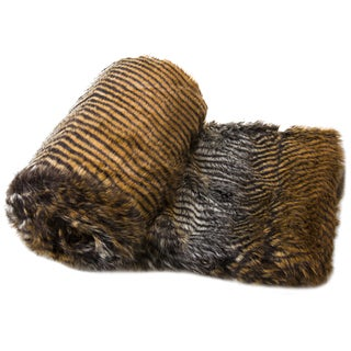 Corrugated Faux Fur Throw