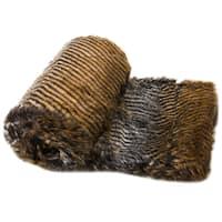 Comfy Corrugated Faux Fur Throw Blanket 50''x60''